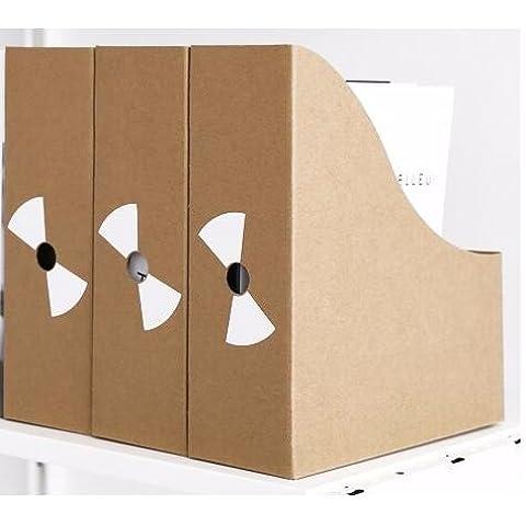 AQPDJ L'Ufficio della cartuccia ammettere la carta kraft Brief creativo informazioni su desktop ammettere gli scaffali informazioni organizzare i file in scatola,