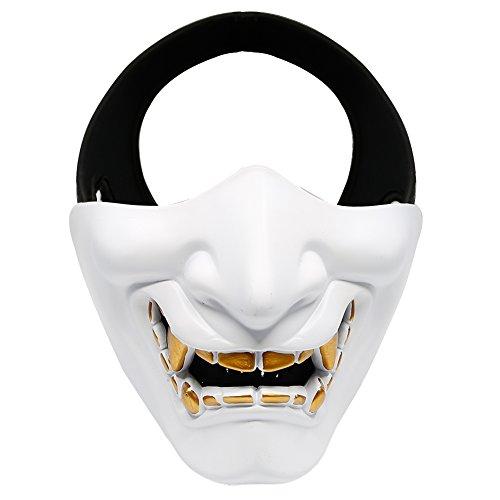 Horror halbe Gesichtsmaske Teufel Lächeln Battlefield Guardian Prajna Maske für Party Halloween Cosplay