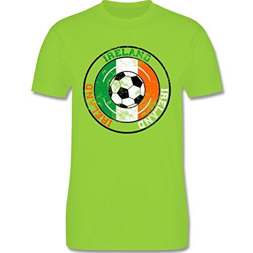 EM 2016 - Frankreich - Ireland Kreis & Fußball Vintage - Herren Premium T- Shirt