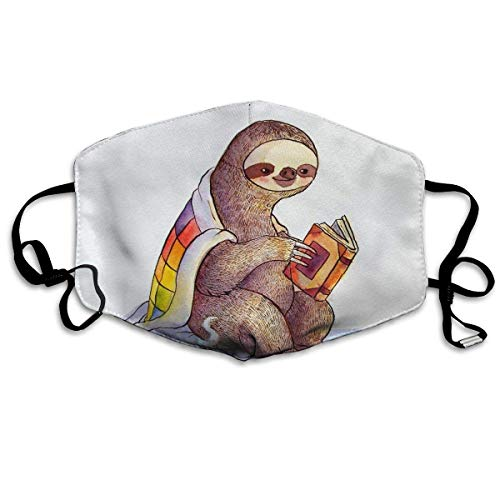 Vbnbvn Unisex Mundmaske,Wiederverwendbar Anti Staub Schutzhülle,Sloth Drinking Sanitary Mask Anti Pollution Earloop Face Flu Maske für Mann Frau