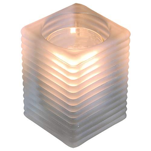 HANTERMANN 1 Stück   Tischlicht   Teelicht-Glas   Teelichhalter   Windlicht   Indoor & Outdoor-Tischleuchte   für Geburtstag, Kommunion, Taufe   perfekte Tisch-Deko   Top Qualität