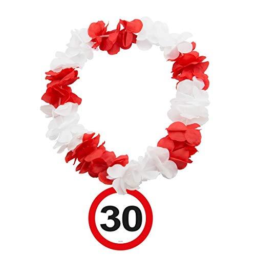 Folat Hawaiikette Verkehrsschilder * Zahl 30 für den 30eburtstag // Hawaii K Preisvergleich