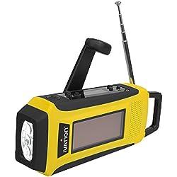 Ivation iva-6016–Radio d'urgence numérique solaire, Jaune