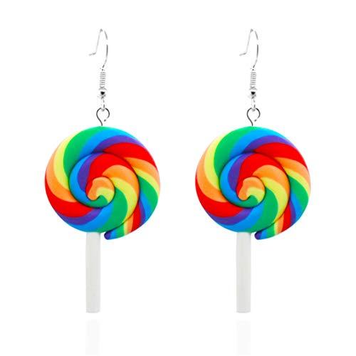 Idiytip Cute Lollipop Baumeln Ohrringe Ohrhänger Dekoration Geschenk Für Frauen Mädchen, Stil 1