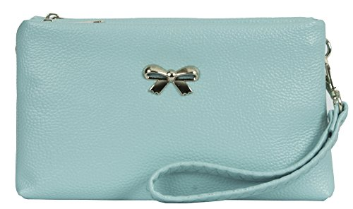 Big Handbag Shop, Borsetta da polso donna Style 1 - Baby Blue