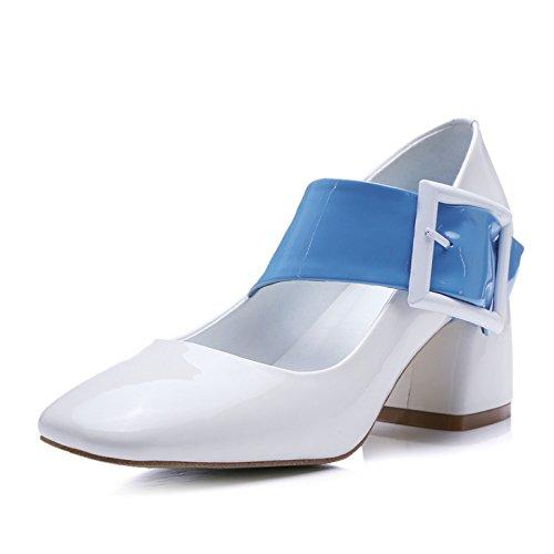 scarpe, scarpe con il tacco della piazza scarpe con una spessa rete superficiale piazza bocca scarpa parola 41