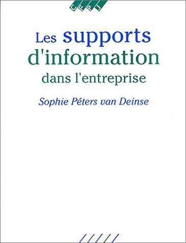 Les supports d'information dans l'entreprise
