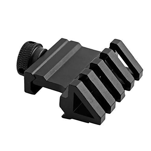 Dwawoo Weaver-Schienenmontage, 45 Grad versetzte Schienenmontage Aluminiumlegierungs-Taschenlampe-rote Punkt-Montierung mit Schlüssel -