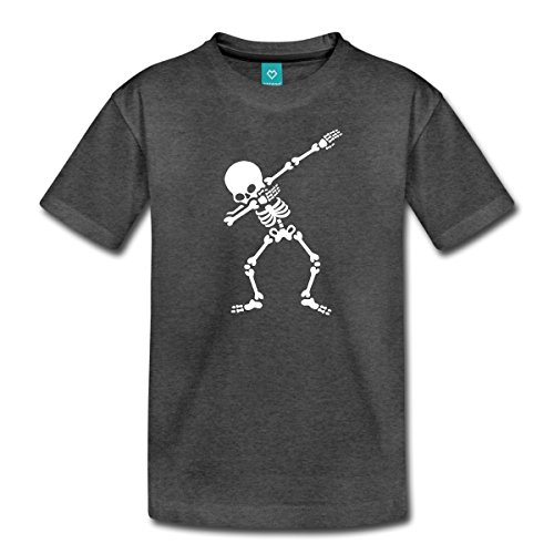 Spreadshirt Dab Skelett Dabbing Gerippe Halloween Teenager T-Shirt, 146/152 (10 Jahre), Anthrazit (Halloween Skelette)
