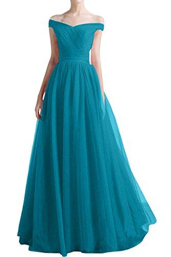 ivyd ressing Femme à partir de la épaules A ligne V de la découpe Prom robe robe de bal robe du soir - Blaugruen