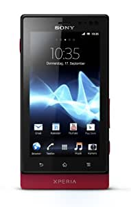 Sony Xperia sola Smartphone (9,4 cm (3,7 Zoll) Touchscreen, 5 Megapixel Kamera, Android 2.3) rot