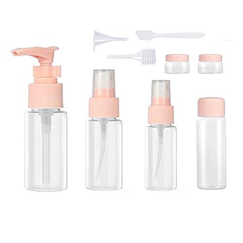 9 pezzi trasparente bottiglie set da lmytech bottigliette da viaggio/set da viaggio/contenitori da viaggio per cosmetici/set di bottiglie di viaggio- kit liquidi flaconi accessori da viaggio