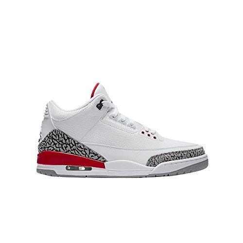 NIKE Kids Air Jordan 3 Retro Big Boys Basketball Shoes (4.5) (3 Retro Boys Jordan Air)