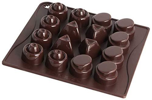 Dr. Oetker Silikon-Schokoladenform Classic, Pralinenform für 16 Köstlichkeiten, aus hochwertigem Platinsilikon, zur Zubereitung von Pralinen oder Eis, (Farbe: braun), Menge: 1 Stück
