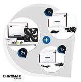 Noctua 2 STK NF-A14 PWM chromax.Black.swap Farbthema Bundle SCHWARZ ; leiser 140mm Premium-Silent-Lüfter, hoher Luftdurchsatz für Computer-Gehäuse, Wasserkühlung und CPU Kühler, 4 pin PWM