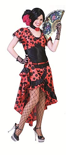 Evita Kostüm - Spanierin Evita Kostüm für Damen - Flamenco Kleid Gr. 36/38