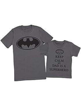 Keep Calm My Dads A Super Hero - regalo para padres e hijos - camiseta de niño y camiseta de hombre