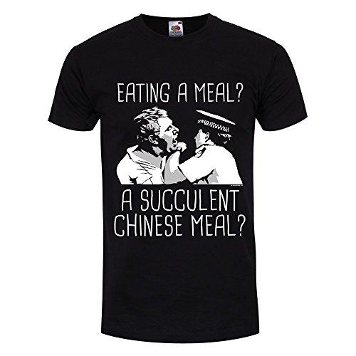 RealSlickTees Essen eine Mahlzeit eine Sukkulente Chinesischen Mahlzeit Herren T-Shirt, Schwarz