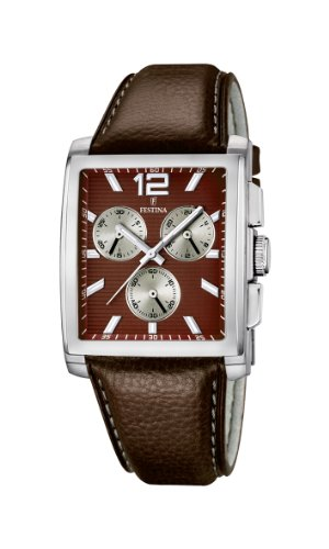 Festina Men's Watch XL Analogue Quartz Leather F16756/3