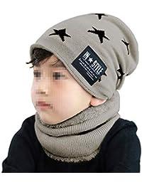 Amorar Cappello per Bambini Invernale per Bambina Cappello Lavorato a  Maglia con Cappuccio Caldo Sciarpa a Tubo per Cuffia con Fodera in… ca083c7869a1