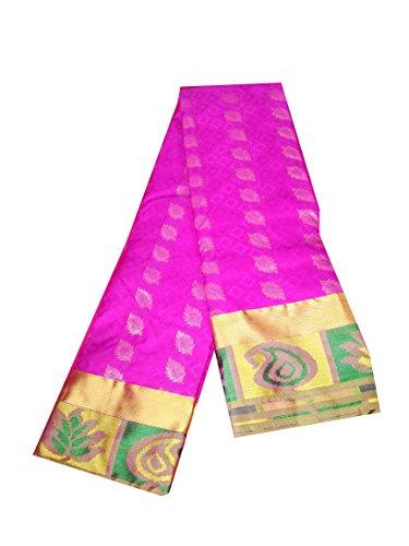Sreenivasa Sarees Womens Pure Pattu Hot Pink Color Hand Woven Saree