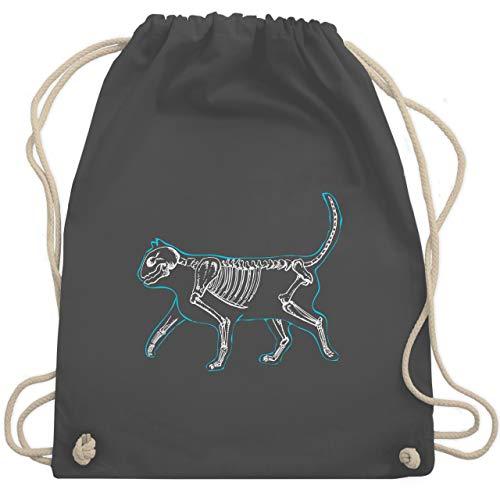 (Katzen - spooky cat - Unisize - Dunkelgrau - WM110 - Turnbeutel & Gym Bag)