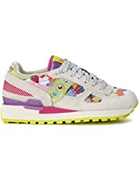 Sneaker Saucony Shadow blanca y multicolor