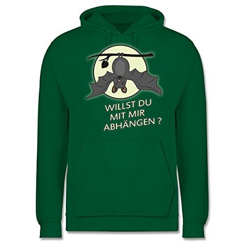 Sprüche - Fledermaus - willst du mit mir abhängen ? - Männer Premium Kapuzenpullover / Hoodie Grün