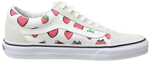 Vans Old Skool, Sneakers Basses Mixte Adulte Blanc (Strawberries/True White)