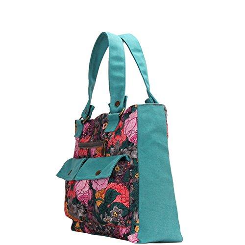 La signora coreana borsa di tela casuale/borsa a tracolla moda/borsetta-A A