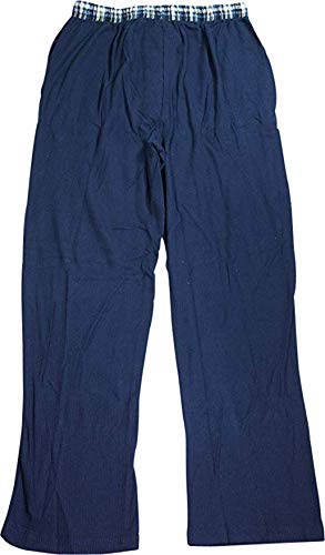 Hanes Mens Thermal Knit Pant, Navy 40432-Small -
