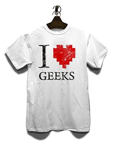 I Love Geeks Vintage T-Shirt Weiß