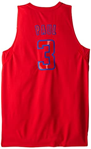 NBA Los Angeles Clippers Winter Court Big Color Swingman Jersey, #3 Chris Paul, Red, Large