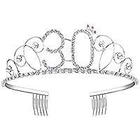 Knowled Corona de Cristal de Plata de Cumpleaños con un Peine de Plata(135cm)
