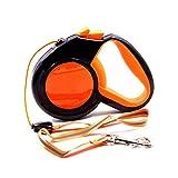 Peng sounded Haustier-Leine-automatischer einziehbarer reflektierender Glühen-Nachtzugkraft-Hundeleinen-Hundetraktor. Mode (Farbe : Orange, Größe : S)