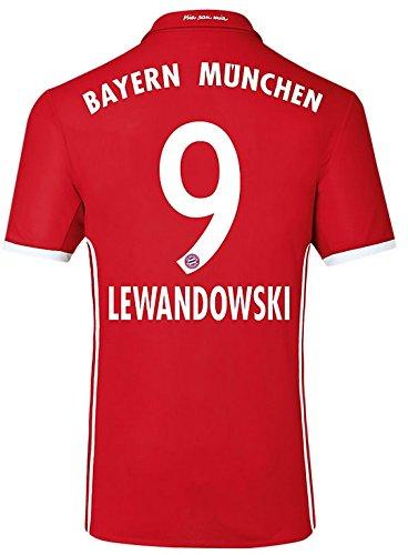 Trikot Adidas FC Bayern München 2016-2017 Home (Lewandowski 9, 152)