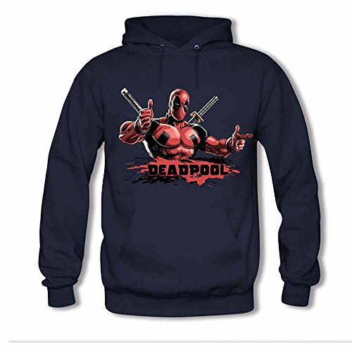 Deadpool 01 Winter Cotton Long Sleeve Mens Pullover Hoodie XL