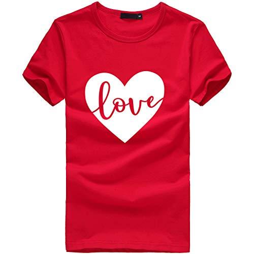 (TWIFER Damen Sommer Shirt Mit Logo Mädchen Plus Size Gedruckt Tees Shirt Kurzarm T Shirt Bluse Tops)