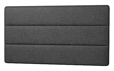 Happy Beds Cornell Lined Headboard, Fabric, Charcoal Cotton, 4 ft 6-Inch, Double - inexpensive UK light store.