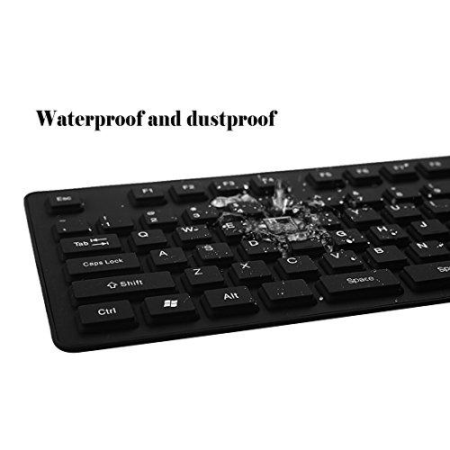 IYUTtech bewegliches verdrahtetes USB-flexibles faltbares Silikon-Tastatur-weiches wasserdichtes rollen oben 107 Schlüssel für Computer-Laptop PC (Schwarzes)