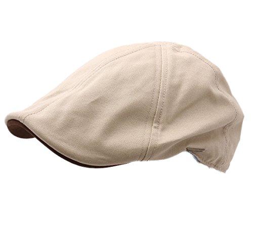 Stetson - Béret - casquette plate homme Texas Canvas nubuck 7-beige