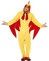 Smiffys All-in-One Chicken Costume with Hood - Parent