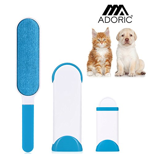 Pet Fur Remover, iHomy Pet Hair Brush With Travel-sized Brush And Reusable With Self-cleaning Base For Clothes, Car, Sofa, Bed, Carpet