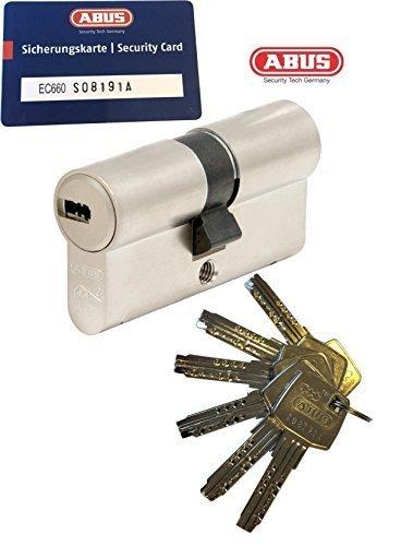 ABUS EC660 Profil-Doppelzylinder Länge (a/b) 35/45mm (c=80mm) mit 6 Schlüssel, mit Sicherungskarte