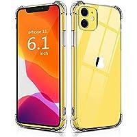 "HUSHCO Funda Compatible con Apple iPhone 11 (6.1"") 2019 Carcasa - Transparente"