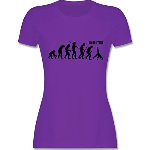 Evolution - Turnen Evolution - tailliertes Premium T-Shirt mit Rundhalsausschnitt für Damen Lila