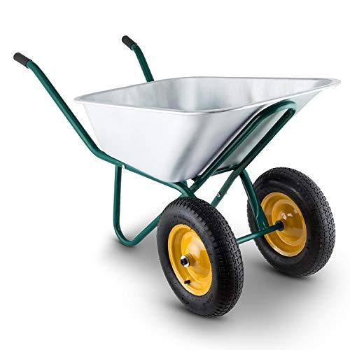 Generic UB Litre Greene de Roue S Grande Roue Brouette Chariot de Jardin en Acier pour Main Chariot Litre Vert Brouette Gar
