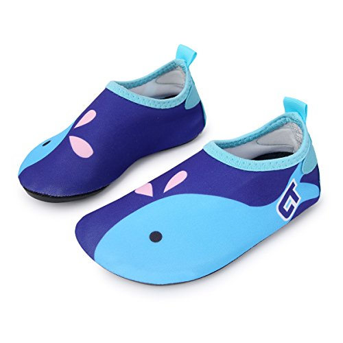 L-RUN Unisex Aqua Wasser Schuhe Barfuß für Strand Pool Surf Yoga Übung Marine (Wasser Aqua Schuhe)