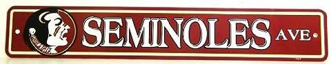 FSU Seminoles NCAA Styrene Plastic Street Drive Sign Team Logo by Tromic