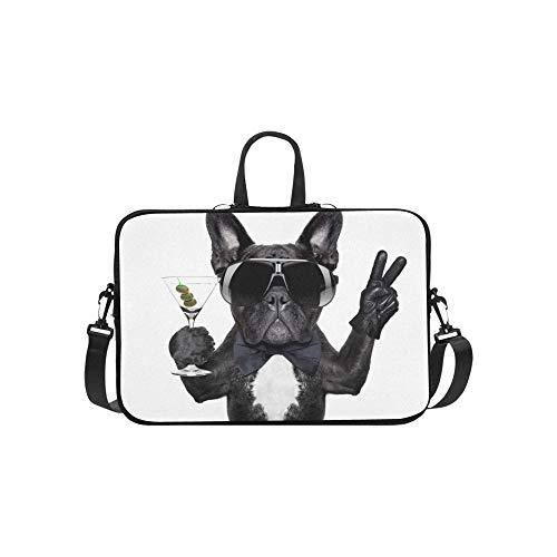 Sieg-computer-tasche (Hund-Martini-Cocktail-Sieg-Friedensfinger Stockfoto Muster-Aktenkoffer-Laptop-Tasche Kurier Shoulder Work Bag Crossbody-Handtasche für das Geschäftsreisen)